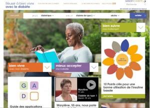Site internet pour les diabétiques Sanofi